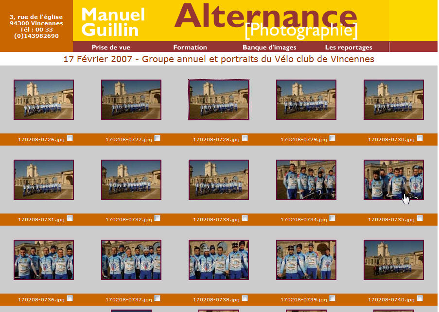 Alternance Photographie - Section reportages