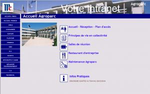 Page d'accueil du site Agroparc