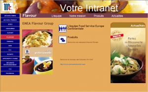 Page d'accueil du département Flavour
