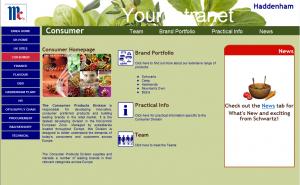 Page d'accueil du département Consumer UK