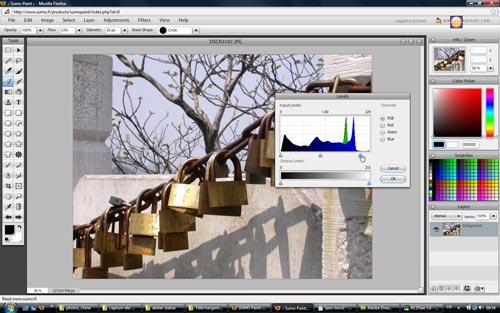 Sumo Paint - Editeur bitmap en ligne